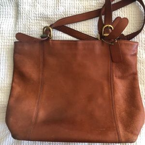 Large coach leather bag